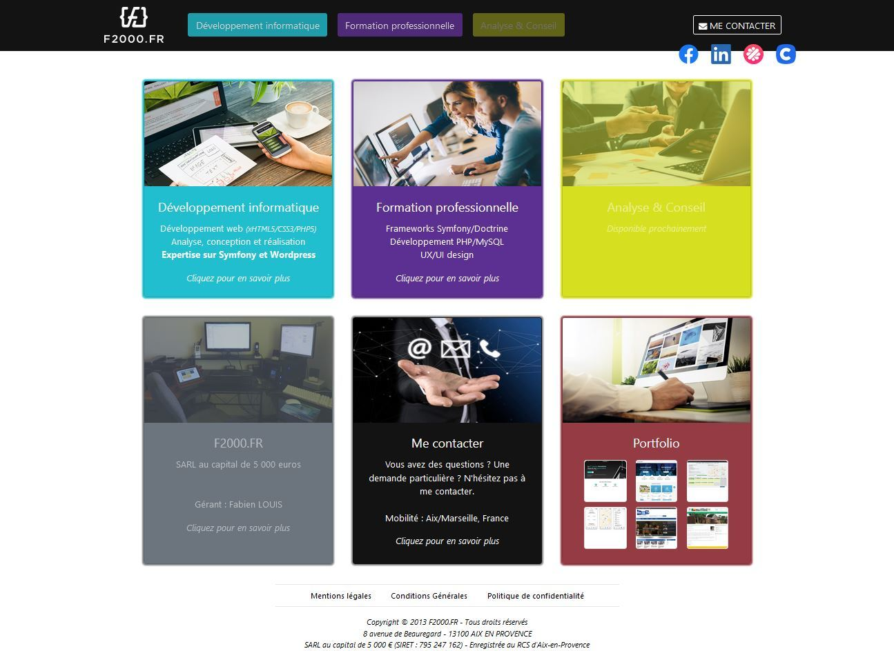 Site professionnel F2000.FR